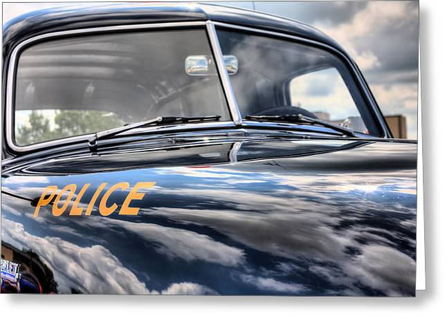 Police Car Greeting Cards - The Paddy Wagon Greeting Card by JC Findley
