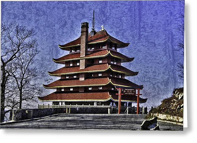 Berks County Greeting Cards - The Pagoda Greeting Card by Trish Tritz