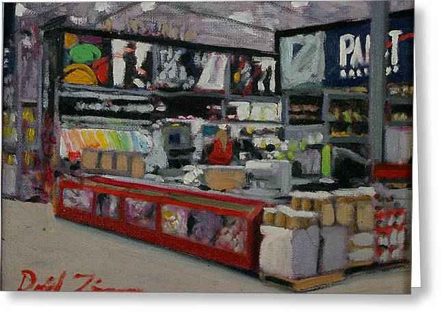 Lowes Greeting Cards - The Paint Counter Greeting Card by David Zimmerman