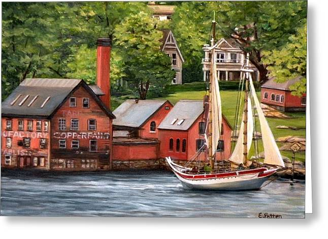New England Ocean Greeting Cards - The Paint Factory and The Ardelle Greeting Card by Eileen Patten Oliver