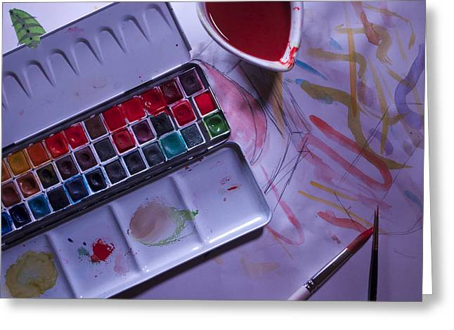 Paintbox Greeting Cards - The Paintbox Greeting Card by Christian Himmler