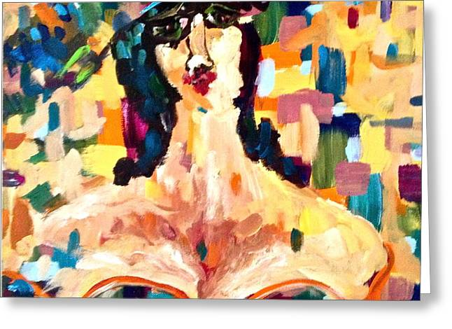 The painted lady Greeting Card by Michelle Dommer