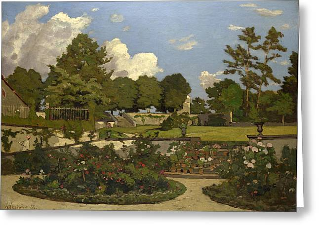 Saint Joseph Greeting Cards - The Painters Garden at Saint-Prive Greeting Card by Henri-Joseph Harpignies