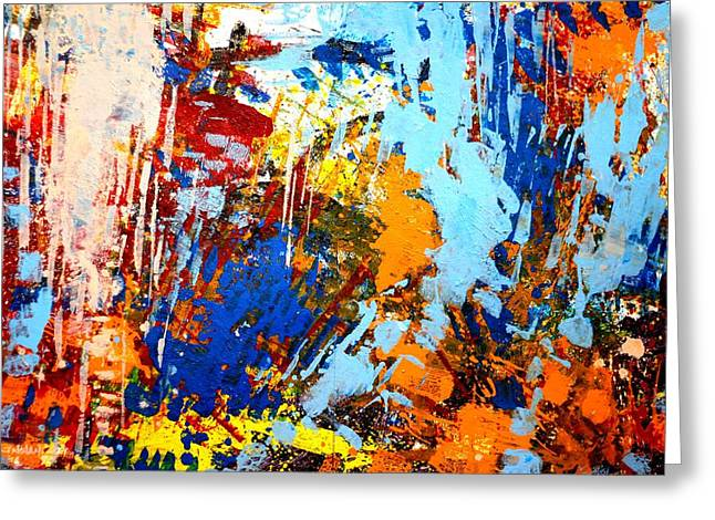 Abstract  Framed Prints Greeting Cards - The painting has a life of its own. I try to let it come through. Jackson Pollock   Greeting Card by John  Nolan