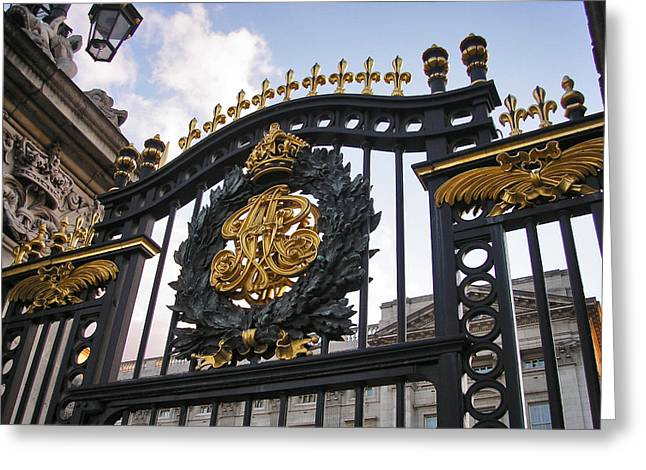 United Kingdom Greeting Cards Greeting Cards - The Palace Gates  Greeting Card by Connie Handscomb