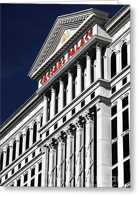 Caesars Palace Greeting Cards - The Palace of Caesar Greeting Card by John Rizzuto