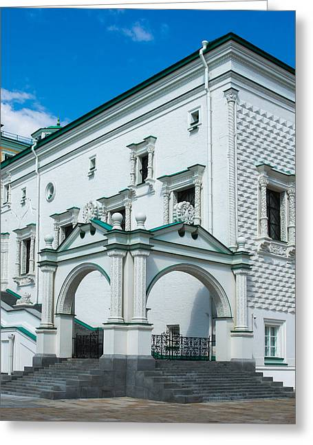 Reception Greeting Cards - The Palace Of The Facets - Square Greeting Card by Alexander Senin