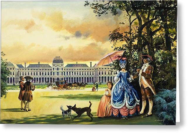 Concorde Greeting Cards - The Palace Of The Tuileries Greeting Card by Andrew Howat