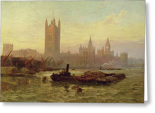 The Palace Of Westminster, 1892  Greeting Card by George Vicat Cole