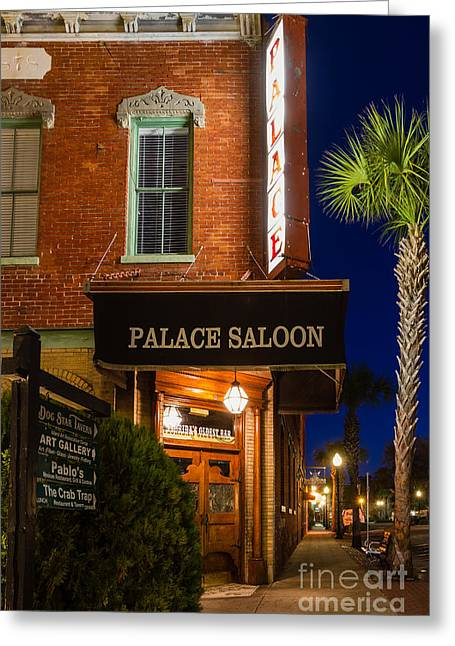 The Palace Saloon Fernandina Beach Florida Greeting Card by Dawna  Moore Photography