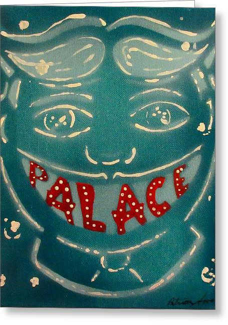Asbury Park Paintings Greeting Cards - The Palace Smile Greeting Card by Patricia Arroyo