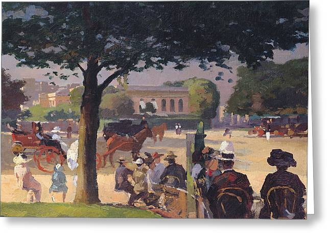 Public Garden Greeting Cards - The Palais Rose, Paris Oil On Canvas Greeting Card by Jules Ernest Renoux