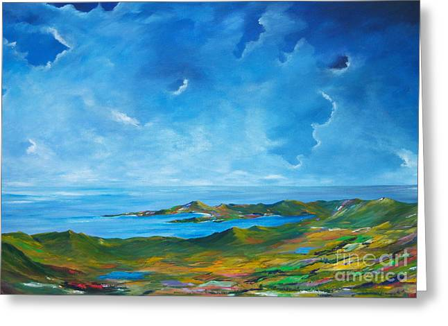 Harvest Time Paintings Greeting Cards - The Palette of Ireland # 2 Greeting Card by Conor Murphy