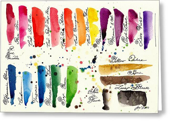 Bunt Greeting Cards - The Pallet II Greeting Card by Tiberiu Soos