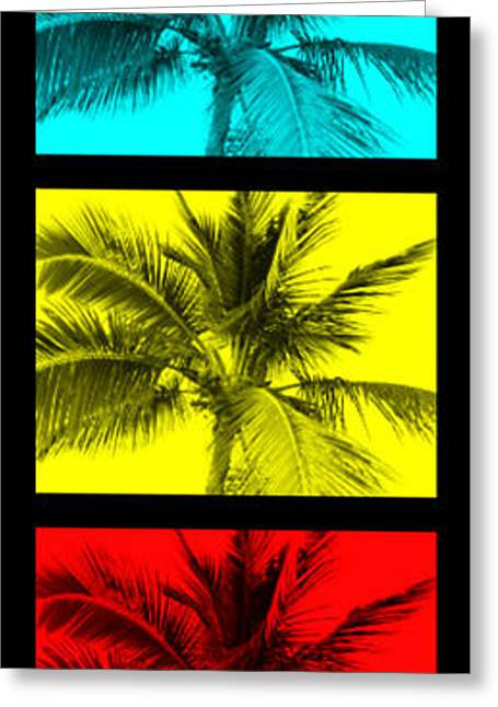 Surfing Photos Digital Art Greeting Cards - The Palm Totem Greeting Card by Timothy Curtin