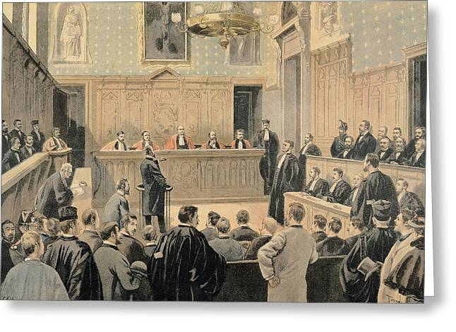 Scandal Greeting Cards - The Panama Trial, From Le Petit Journal, Engraved By Fortune Louis Meaulle 1844-1901 2nd January Greeting Card by Oswaldo Tofani
