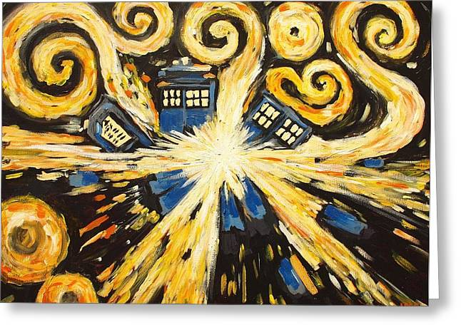 Doctor Who Greeting Cards - The Pandorica Opens Greeting Card by Sheep McTavish