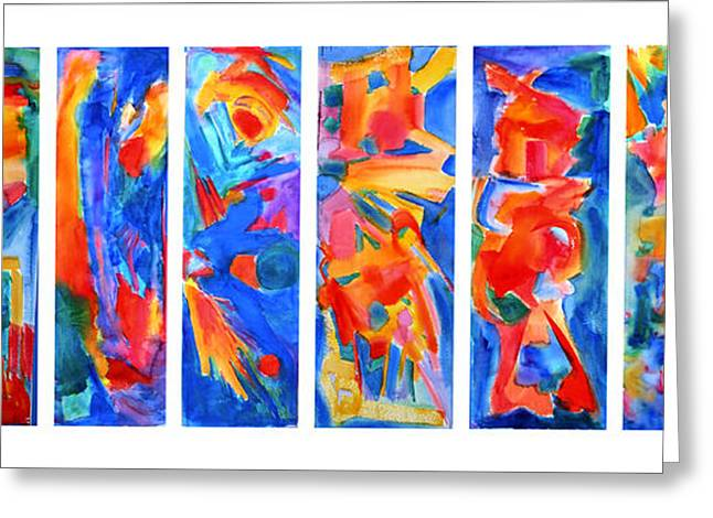 Abstract Expressionist Greeting Cards - The Panels of Man Greeting Card by  Tolere