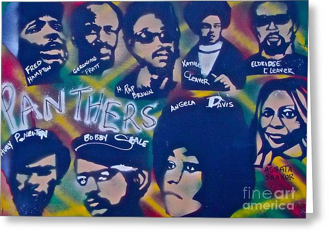 Occupy Greeting Cards - The Panthers Greeting Card by Tony B Conscious