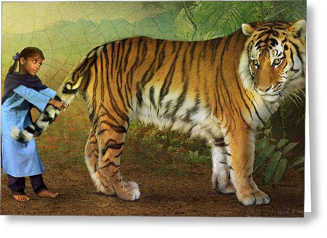 Parable Photographs Greeting Cards - the parable of Kishi and the tiger Greeting Card by R christopher Vest