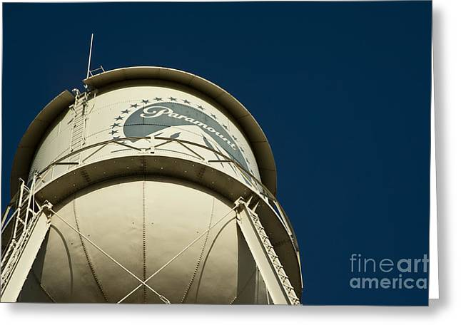 Famouse Greeting Cards - The Paramount Pictures water tower Greeting Card by Micah May