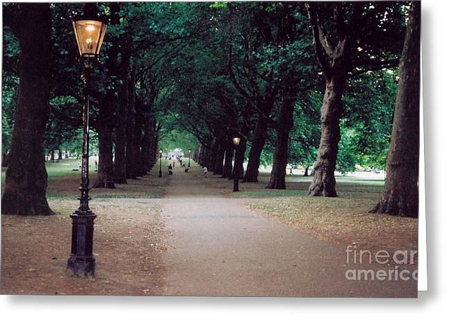 The Park Greeting Card by Nu Art