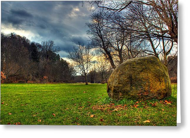 Rochester Artist Greeting Cards - The Park Greeting Card by Tim Buisman
