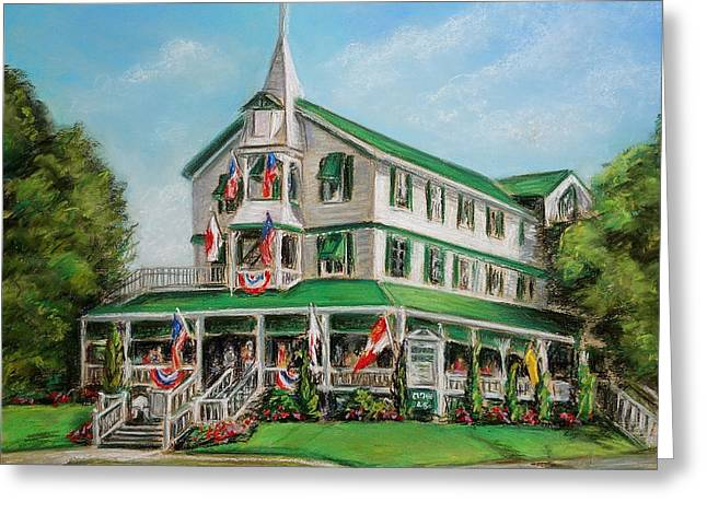 Buildings By The Sea Greeting Cards - The Parker House Greeting Card by Melinda Saminski