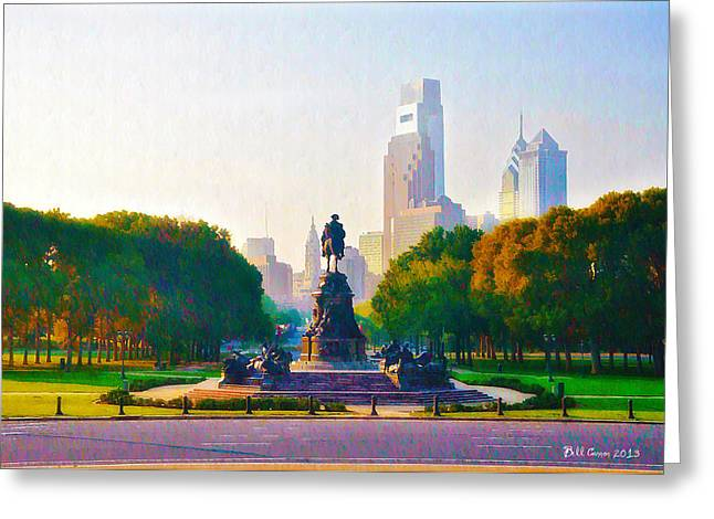 Parkway Digital Greeting Cards - The Parkway Greeting Card by Bill Cannon