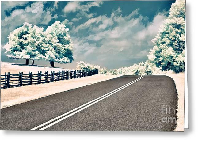 Virginia Farm Greeting Cards - The Parkway II Greeting Card by Dan Carmichael