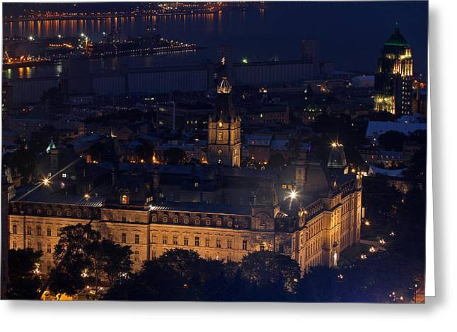 Quebec Restaurants Greeting Cards - The Parliament of Quebec Greeting Card by Juergen Roth