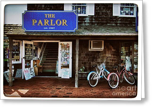 Lbi Greeting Cards - The Parlor on LBI Greeting Card by Mark Miller