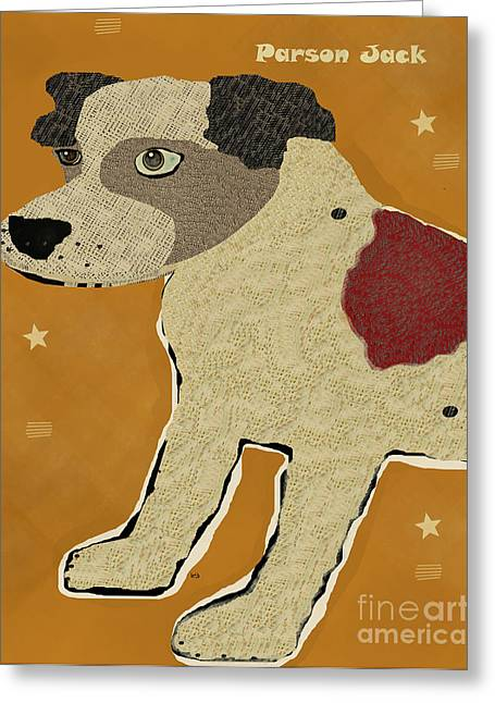 Canine Posters Greeting Cards - The Parson Jack  Greeting Card by Bri Buckley