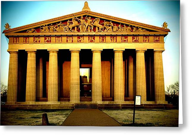 Parthenon Greeting Cards - The Parthenon Greeting Card by Dan Sproul