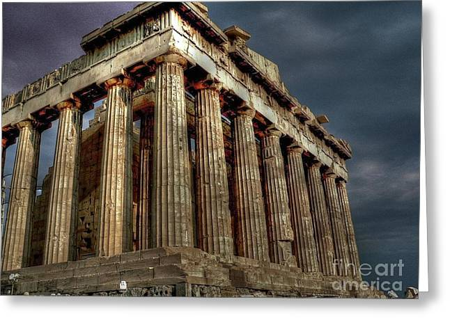 Acropolis Greeting Cards - The Parthenon Greeting Card by David Bearden