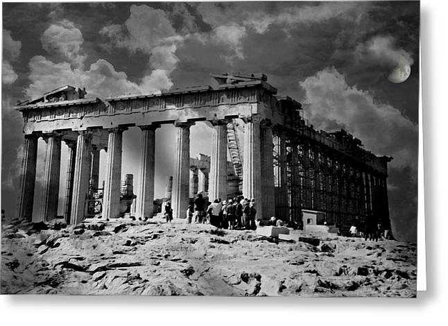 Athens Ruins Greeting Cards - The Parthenon Greeting Card by Diana Angstadt