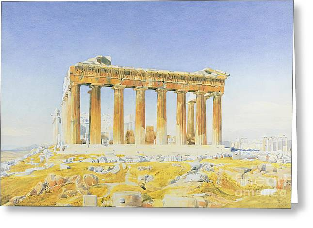 Greek Ruins Greeting Cards - The Parthenon Greeting Card by Thomas Hartley Cromek