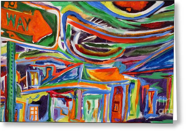 Synesthesia Greeting Cards - The Paseo Greeting Card by Dillon James