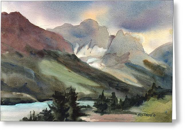 Snake River Greeting Cards - The Pass Greeting Card by Kris Parins