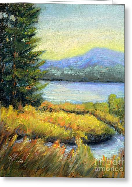 Park Scene Pastels Greeting Cards - The Passage Greeting Card by Arlene Baller