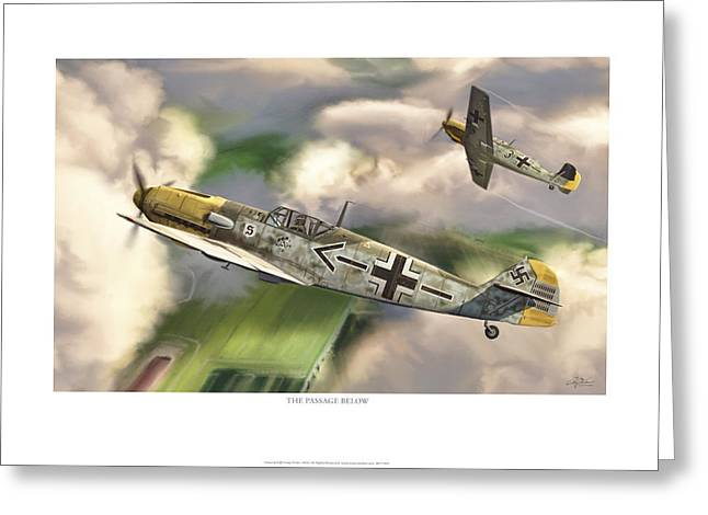 Me262 Greeting Cards - The Passage Below Greeting Card by Craig Tinder