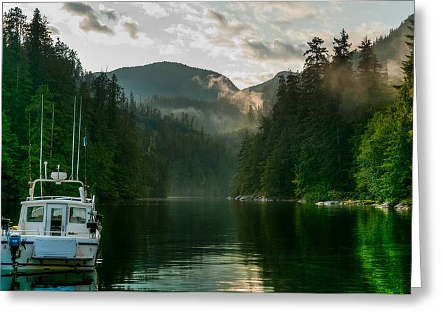 Fishing Boats Greeting Cards - The Passage Greeting Card by Chris McKenna