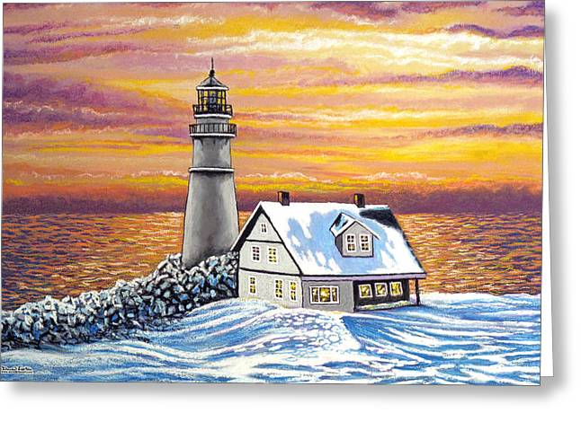 Maine Beach Mixed Media Greeting Cards - The Passage of a Memory Greeting Card by David Linton