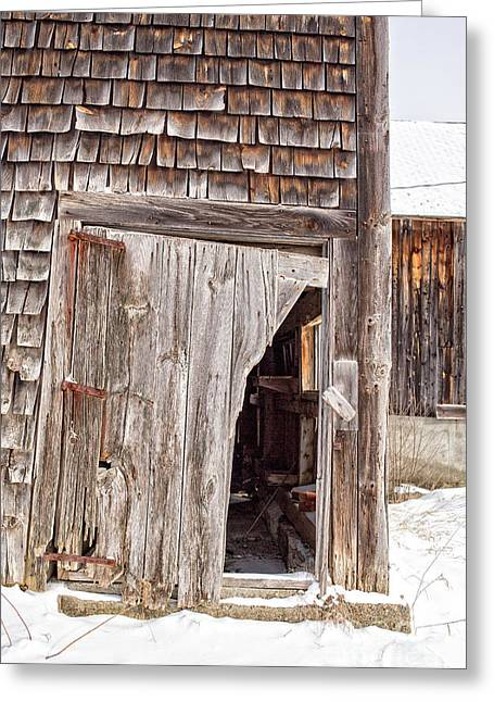 Old Wood Cabin Greeting Cards - The Passage of Time Greeting Card by Edward Fielding