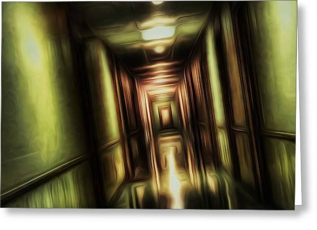 Hall Digital Art Greeting Cards - The Passage Greeting Card by Scott Norris