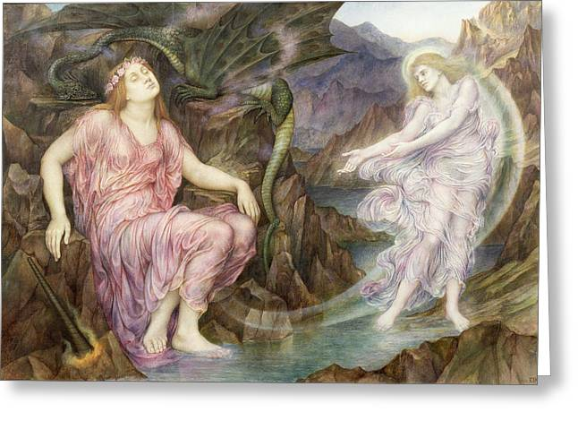 Williams Greeting Cards - The Passing of the Soul at Death Greeting Card by Evelyn De Morgan