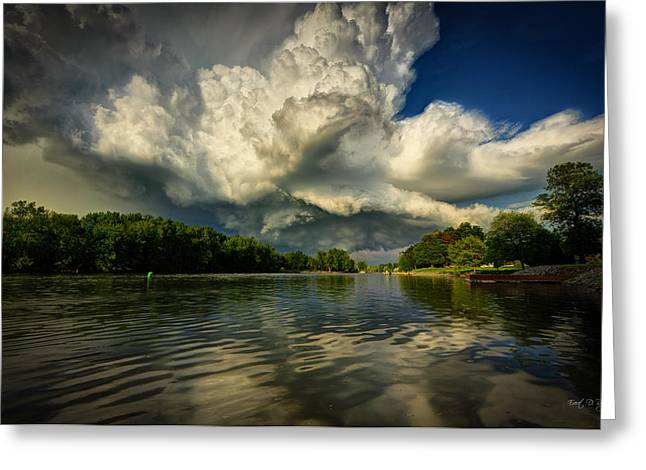 Stormy Clouds Greeting Cards - The passing storm Greeting Card by Everet Regal
