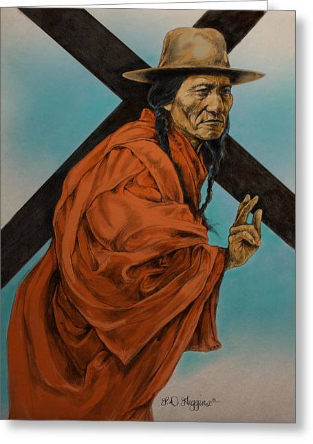 Chief Sitting Bull Greeting Cards - The Passion  Greeting Card by Derrick Higgins