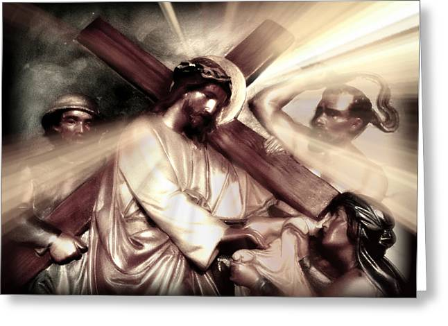 Holy Week Digital Art Greeting Cards - The Passion of Christ X Greeting Card by Aurelio Zucco