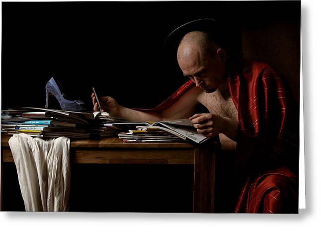 Zed Greeting Cards - The Passion of St. Sidonius Greeting Card by Zdenek Sindelar
